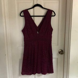 Burgundy/wine colored Lacey Free People Dress